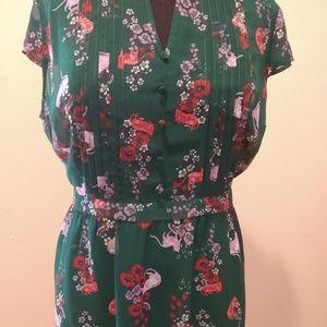 ModCloth Sheer Cat Aline Dress